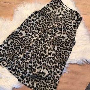 daniel rainn leopard tank blouse size medium